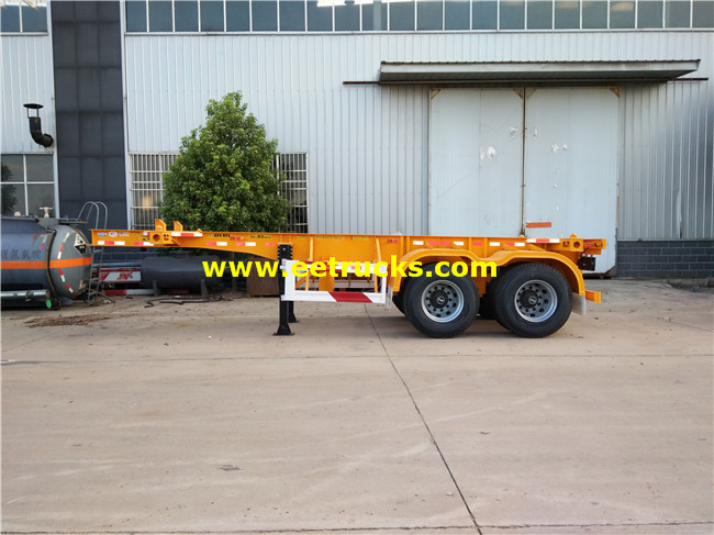 2 Axle Low Flatbed Trailers