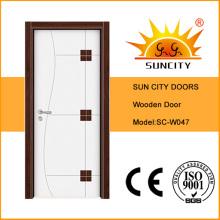 Переднее внешнее шпонированные двери твердой древесины с краской (СК-W047)