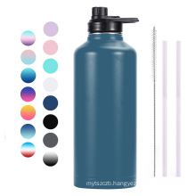 80oz Powder Coated Double Walled Stainless Steel Vacuum Flask Sports Water Bottle