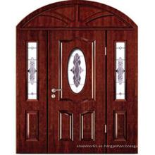 Puerta de entrada madera de entrada posición puerta puerta de madera doble hoja