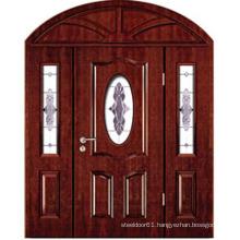 Entry position door wood door double leaf wooden entry door