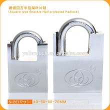 Square Type Shackle Half Protected Security Padlock