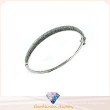 Хорошее качество Ювелирные изделия 3A 925 Серебряный Простой стиль браслет (G41272)