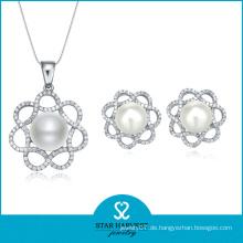 2015 Lucky Pearl Silber Schmuck Set Verkauf auf Linie (J-0011)