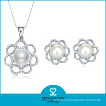 2015 Lucky Pearl Silver Set bijoux mis en ligne (J-0011)