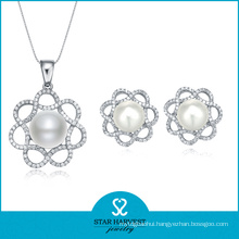 2015 Lucky Pearl Silver Jewellery Set Sales on Line (J-0011)