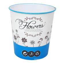 Boîte à ordures imprimée imprimée en fleur en plastique (B06-930H)