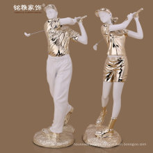home interior decoration high quality poly resin golfer player figure