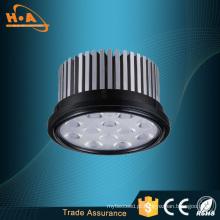 Prata e preto morno branco 12W LED Spot luz AR111