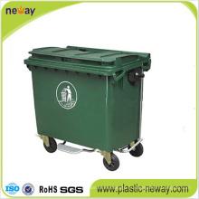 Utilisation extérieure et fonction écologique Poubelle en plastique 1100L