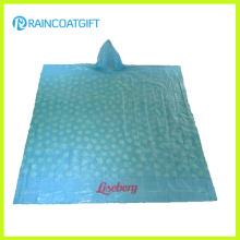 Poncho de impresión promocional PE Rain (RPE-005)