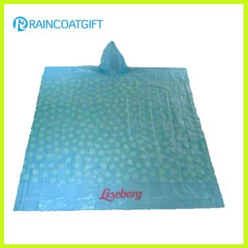 Poncho de pluie PE imprimé promotionnel (RPE-005)