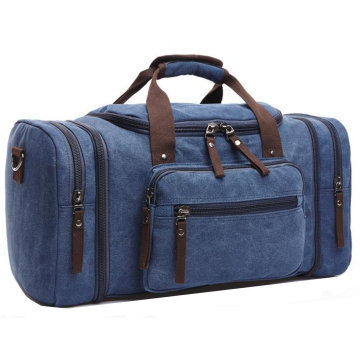 8642 Holdall Overnight Weekend Bag Travel Duffel Bag Canvas Leather
