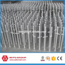Base de gato de andamio base sólida y hueca de tornillo utilizada para el sistema de ringlock y sistema de marco de alta calidad