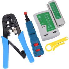 Kit de réseautage avec outil de sertissage Punch Down et testeur