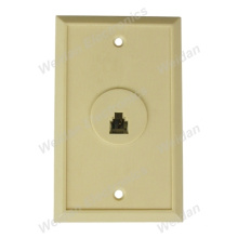 Us Style Single Port Phone Jack Wall Plate