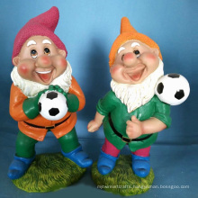 Polyresin Garden Decoration Football Dwarf