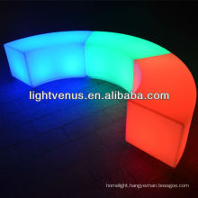 Curved LED stool