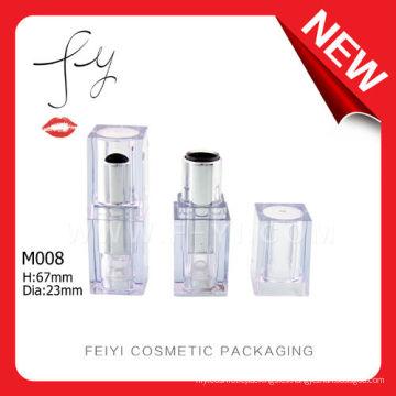 Plástico Cuadrado Transparente Lipstick Contenedor