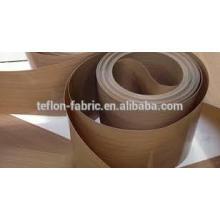 China atacado preço de alta qualidade de alta resistência à temperatura não-stick PTFE teflon correia transportadora