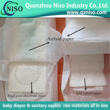 Papel ultra-fino da seiva das matérias primas do guardanapo sanitário