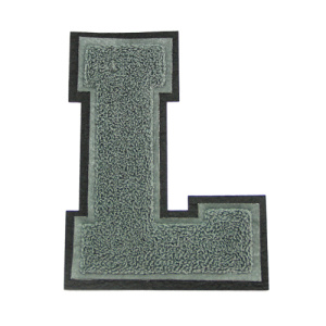 Chenille Varsity Letter L Embroidery Applique Patch