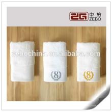 Hotel verwendet 100% Baumwolle Customized Soft Stoff Weiß Leinen Gesicht Handtuch