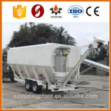 Silo de cendres à ciment mobile, silo de ciment horizontal