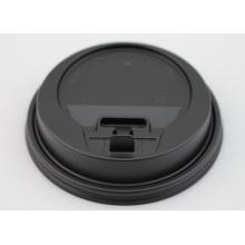 Black Plastic Lid for Hot Paper Cups