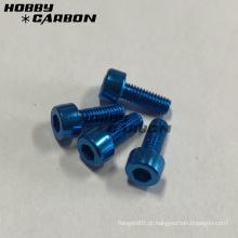 Parafusos de cabeça de soquete de alumínio M3 coloridos