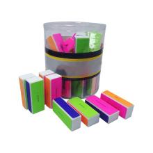 Japan Quality Long last Nail Shiner Block 320 grit Rectangle Buffer Colorful 4 Sides Shiner