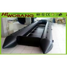 Bote de salvavidas inflables de China rescate militar barco de 6,3 m con CE