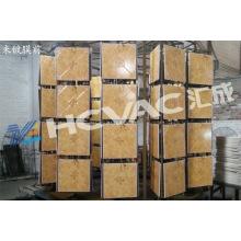 Metalizador del vacío de la teja PVD de cerámica / máquina de la capa del vacío del oro de cerámica