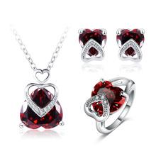 En forma de corazón joyería de latón de boda para novias (cst0041)