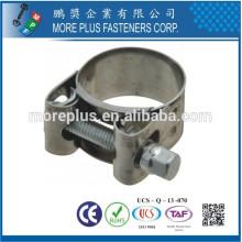 Fabriqué en Taiwan Plastique en acier inoxydable Large Schlauchklemmen T Bolt Tuyau Clamp