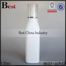 porcelain white essential oil bottle, 120ml square shape glass bottle