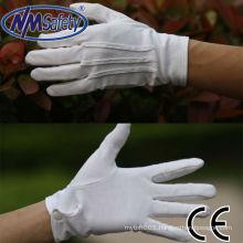 NMSAFETY cotton hand working glove pvc dotted gloves machine making