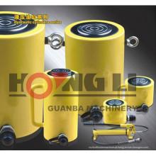 Cilindro hidráulico de curso longo Hongli / cilindro hidráulico de curso longo de 3 estágios