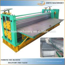 Folha de telha ondulada galvanizada de aço da cor que faz a linha de produção da máquina