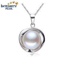 10-10.5mm Bread Round 3 Colors Fashion 925 Pendentif en argent sterling blanc pour perles d'eau douce