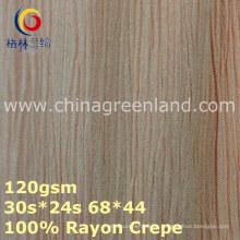 Tela de teñido tejida del crespón del rayón 100% para la materia textil de la ropa (GLLML373)