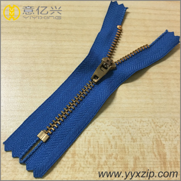 No.4 Metal YG Slider Brass Zipper para Jeans