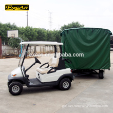 2 seater electric golf car with 4 Wheel truck trailer semi trailer