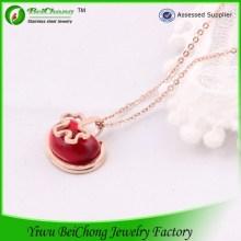 Естественный камень красный ожерелье 14K из нержавеющей стали