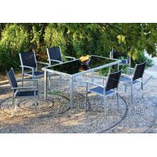 Outdoor Möbel 7pc imitiert Holz-ESS-set