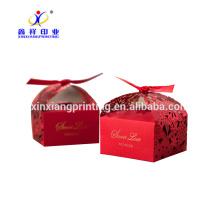 Boîte de cadeau de papier doux de sucrerie décorative pour le mariage, papier de boîte de cadeau