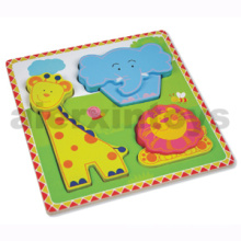 Wooden Zoo Animals Puzzle for Baby (80631-4)