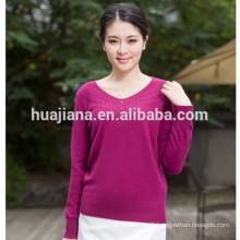 2017 fashion women's cashmere knitting sweater