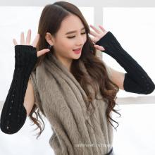 Новый дизайн вязания нарукавники, девочки варежки, хлопок и акрил трикотажные перчатки для оптовой продажи