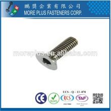 Taiwán Fabricación Cobre M2 Zinc plateado Hexágono Tornillo de casquillo